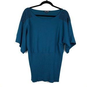 Cable & Gauge studded embellished artisan blouse